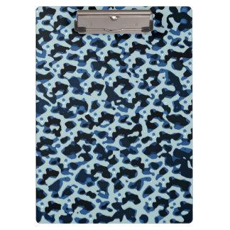 Blue Black Camo Pattern Clipboard