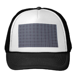 Blue Black Checks Artist created elegant pattern Trucker Hats