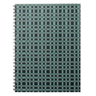 Blue Black Checks Artist created elegant pattern Note Books