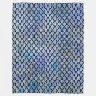 Blue Black Dragon Scale Blanket