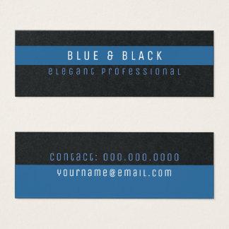 blue & black elegant pro premium mini business card