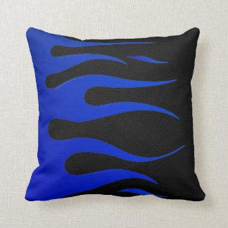Blue & Black Flame American MoJo Pillow