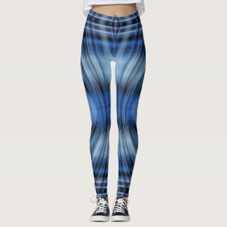 Blue Black Funky Leggings