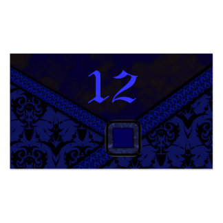 Blue & Black Goth Lace Wedding Business Card