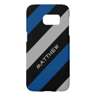 Blue black grey | Stylish diagonal stripes