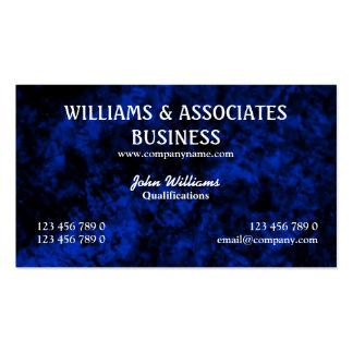 Blue black interior design art pack of standard business cards