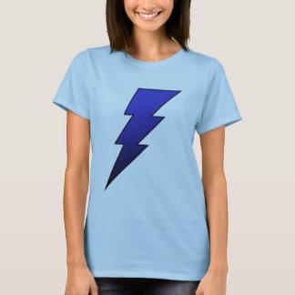 Blue Black Lightning Bolt Ladies T Shirt