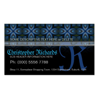 Blue+Black Medieval Tapestry Gothic Business Cards