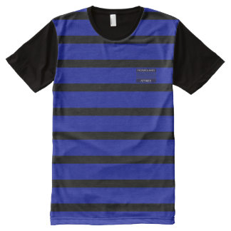 Blue Black Modern Name Brand Men Shirt