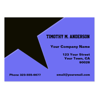 Blue Black Modern Shape Point Pack Of Chubby Business Cards