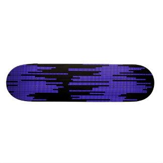 BLUE BLACK MUSIC BEATS VOLUME RECORDING DIGITAL CUSTOM SKATEBOARD