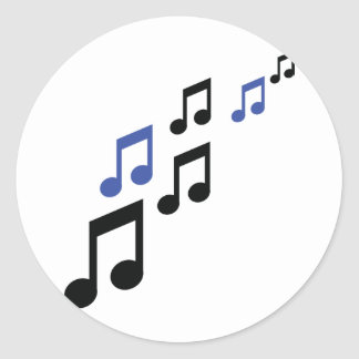 blue black music notes stickers