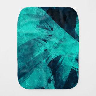 Blue-Black painting Burp Cloth