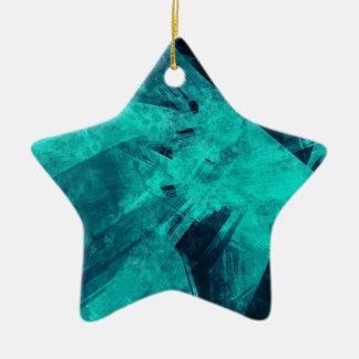 Blue-Black painting Ceramic Ornament