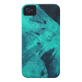 Blue-Black painting iPhone 4 Case-Mate Cases