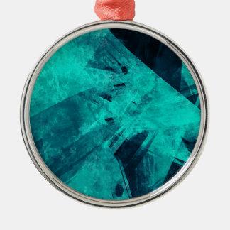 Blue-Black painting Metal Ornament