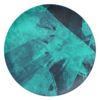 Blue-Black painting Plate