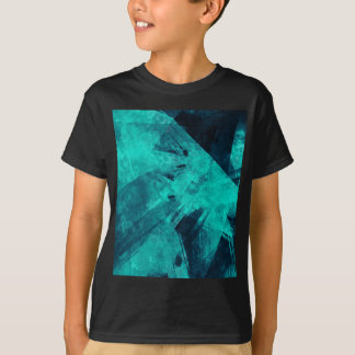 Blue-Black painting T-Shirt