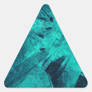 Blue-Black painting Triangle Sticker