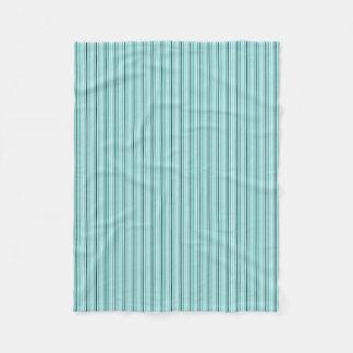Blue-& Black-Pin-Striped--Sm Fleece Blanket