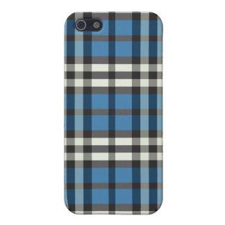 Blue/Black Plaid Pern iPhone 5 Case