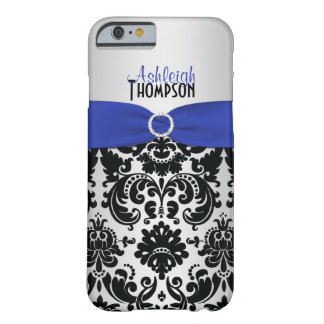 Blue, Black, Silver Damask iPhone 6 case