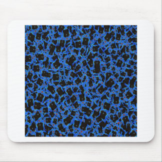Blue Black Sparkle Abstract Formation Pattern GIFT Mouse Pads