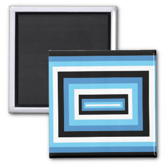 Blue/Black Squares Fridge Magnet