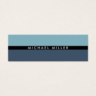Blue black stripe simple minimal smart masculine mini business card