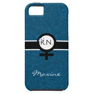 Blue/Black/White+Female Sign+Nurse Name+Nurse Cap Case For The iPhone 5