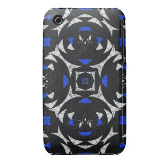 Blue Black White Keolidescope Case-Mate iPhone 3 Cases