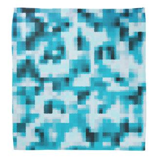Blue Black White Modern Abstract Pattern Bandana