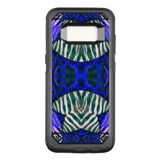 Blue Black Zebra Cat Paws OtterBox Commuter Samsung Galaxy S8 Case