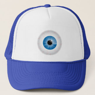 Blue Bloodshot Eyeball Hat