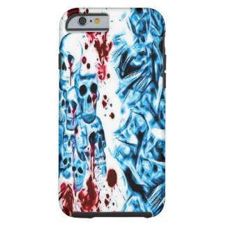 Blue Bloody Skull iPhone 6 case Tough iPhone 6 Case