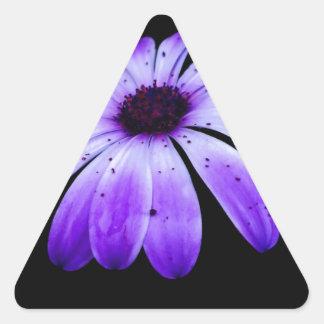 Blue Bloom Triangle Sticker