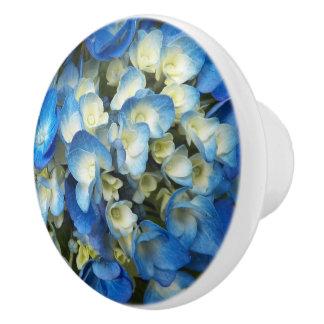 Blue Blossoms Floral Ceramic Knob