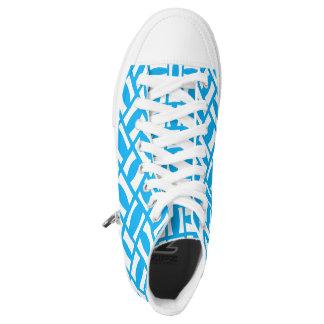 Blue Blue Blue Shoes Printed Shoes