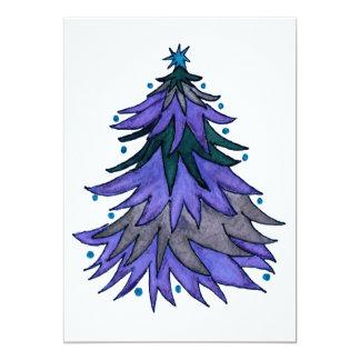 Blue, Blue Christmas Card