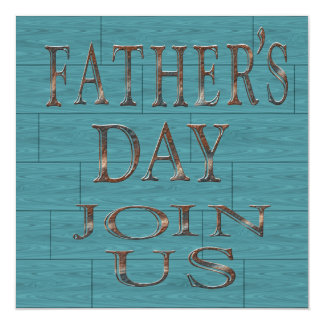 Blue Boards Father's Day Party Invitations