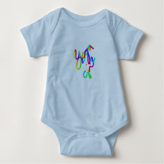 Blue Body Suit ~~ Yoga Girl Baby Bodysuit