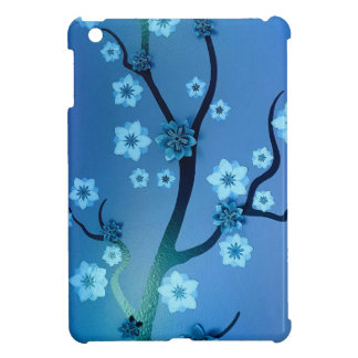 Blue Bokah Blossom Branches iPad Mini Covers