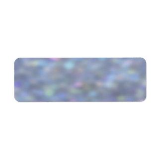 Blue Bokeh Sparkles Return Address Label