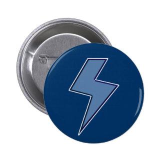 Blue Bolt 6 Cm Round Badge