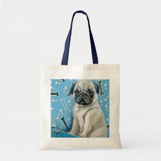 Blue Bone Pug Design