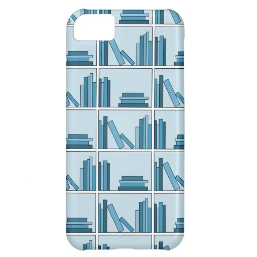 Blue Books on Shelf. iPhone 5C Cases