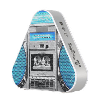 Blue boombox bluetooth speaker