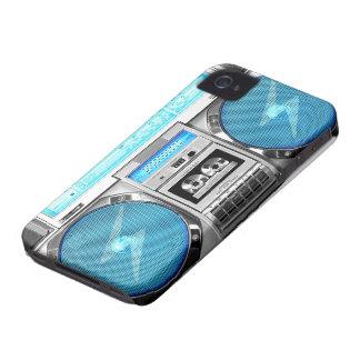 Blue boombox iPhone 4 Case-Mate case