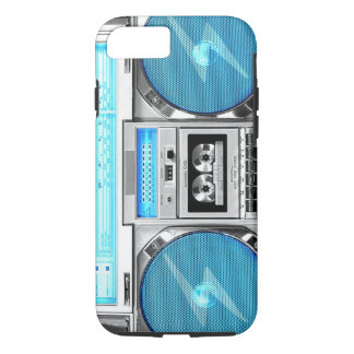 Blue boombox iPhone 7 case