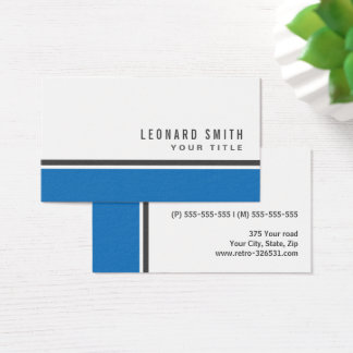 Blue border modern stylish white professional